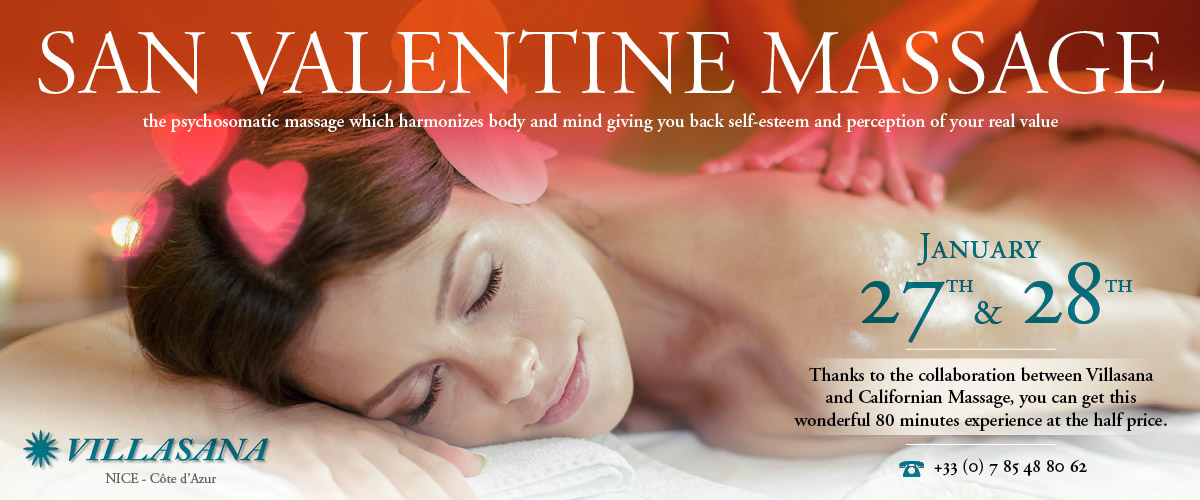 Massage in Villasana by Californian Massage special offer for San Valentine