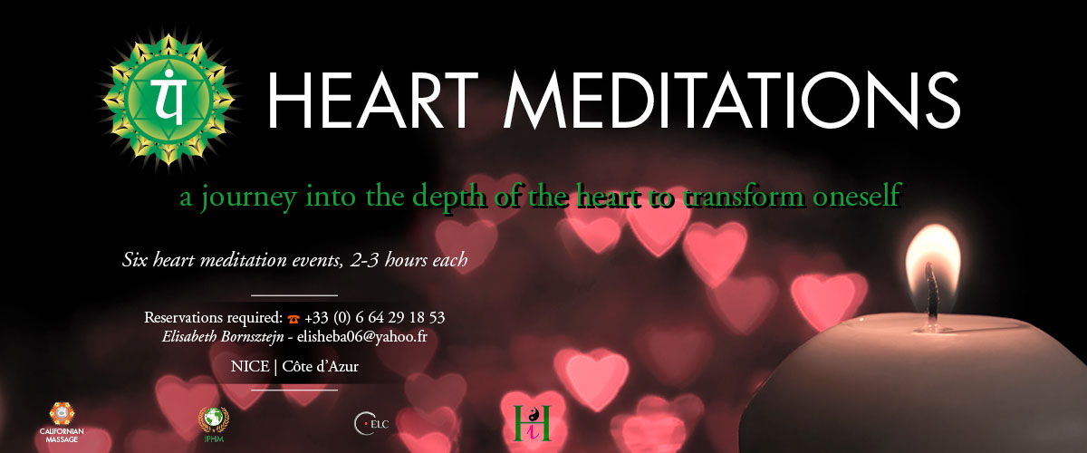 a journey into the depth of the heart to transform oneself six heart meditations events nice cote d'azur